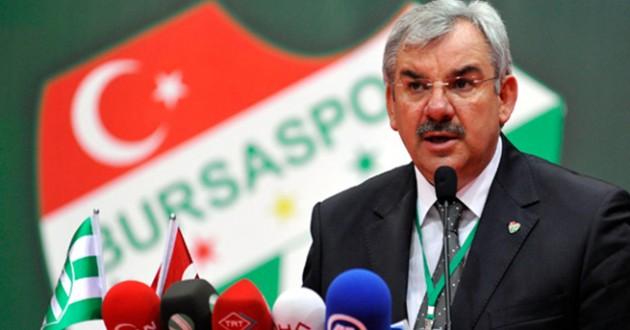 Bursaspor Başkanı Bölükbaşı'ndan Açıklama
