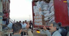 'Kilometrelerce Öteden Tebessüm-28' Yardımı Gazze'ye Ulaştı