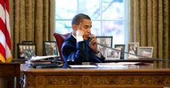 Obama, Merkel'le Telefonda Görüştü
