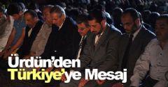 Ürdün'den Türkiye'ye Mesaj