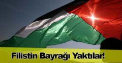 IŞİD Filistin Bayrağı Yaktı