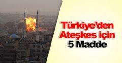 Türkiye'nin Önerdiği 'O' 5 Madde