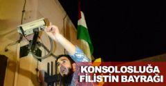 Konsolosluğa Filistin Bayrağı