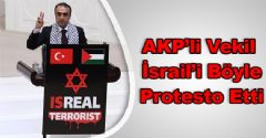 Cuma İçten'den Afişli İsrail Protestosu