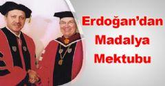 Erdoğan'dan Madalya Mektubu