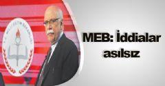 MEB iddiaları yalanladı