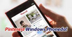 Pinterest Windows Phoneda!