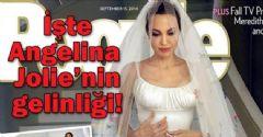 İşte Angelina Jolie'nin gelinliği