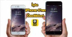 İşte iPhone 6'nın Özellikleri