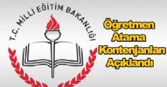 MEB Öğretmen Atama Kontenjanlarını Açıkladı!