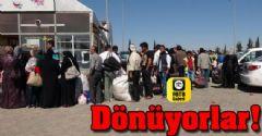 Suriyeliler Geri Dönüyor!