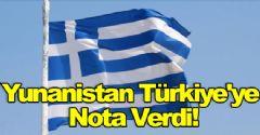 Yunanistan Türkiye'ye Nota Verdi