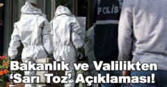 Sağlık Bakanlığı 'Sarı Toz' Açıklaması Yaptı!