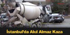 İstanbul Kağıthane'de Akıl Almaz Kaza