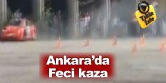 Ankara'da Drift Yarışlarında Feci Kaza