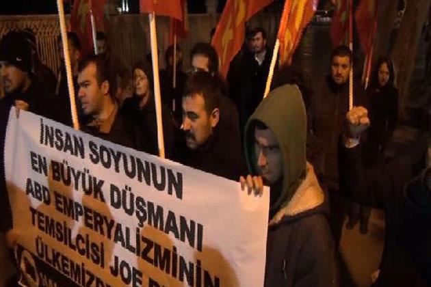 Joe Biden'e Dolmabahçe'de Protesto!