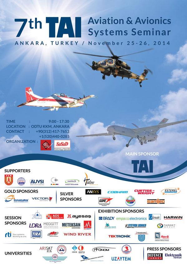 7. Havacılık ve Aviyonik Sistemler Semineri Ankara'da Gerçekleştirilecek