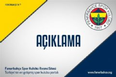Fenerbahçe'den Fikret Orman'a Sert Yanıt