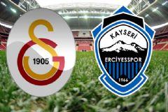 Galatasaray-Kayseri Erciyesspor Maçının İlk 11'leri