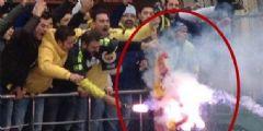 Fenerbahçeli Taraftarlar Galatasaray Forması Yaktı