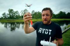 Drone İle Balık Tutan Adam