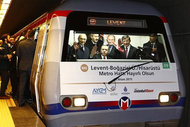 Cumhurbaşkanı Erdoğan Metro Kullandı