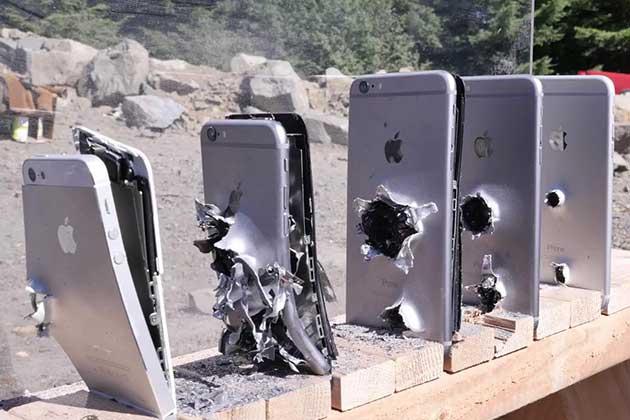 Bir Mermi Kaç iPhone'a Zarar Verir Testi