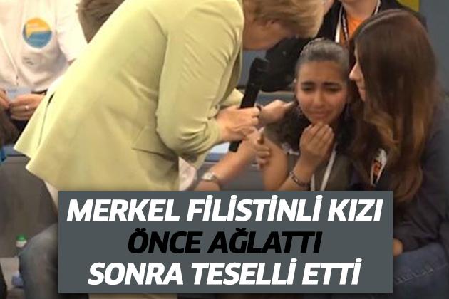 Merkel'in Mülteciler Hakkındaki Sözleri Filistinli Kızı Ağlattı