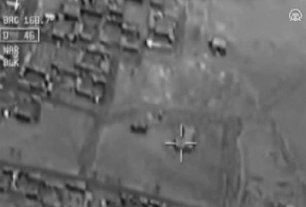 DAEŞ'e Bombardıman Görüntüleri Yayınlandı