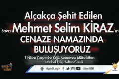 AK Parti Gençlik Kolları Savcı Kiraz'ın Cenazesine Katılacak