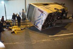 Ankara'da Otobüs Tünele Uçtu: 1 Ölü 14 Yaralı