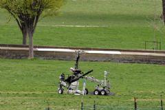 ABD Kongresi'nin Bahçesine Helikopter İndi
