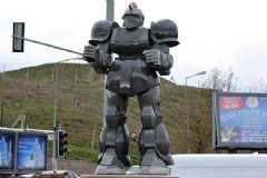 Ankara'daki Robot Heykelinin Yerine Dinozor Heykeli Koyuldu