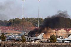 İspanya'da Askeri Uçak Yere Çakıldı