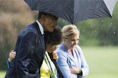 Obama'nın Şemsiye Jesti Kıskandırdı