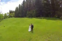 Düğün Çekimi Yapan Drone'a Ağaç Engeli