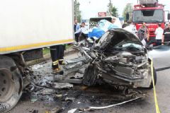 Terme'de Korkunç Kaza: 2 Ölü