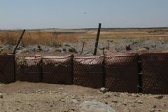 Suriye Sınırında Kum Torbalı Mevzi