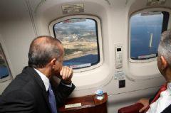 Erdoğan 3. Havalimanı İnşaatını Havadan İnceledi