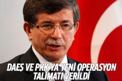 Başbakan Davutoğlu'ndan DAEŞ ve PKK Operasyon Açıklaması