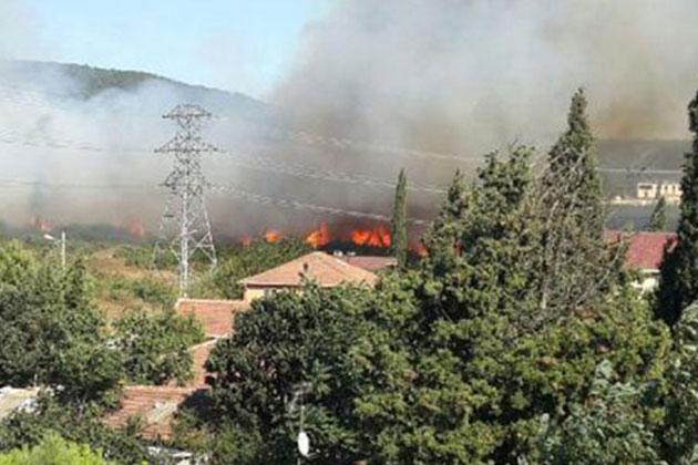 Tuzla Jandarma Komutanlığı Arazisinde Yangın