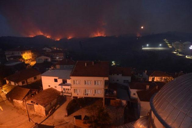 Bursa'da Ormanı Yangını Kontrol Altına Alınamadı