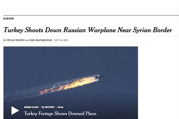 Dünya Basını Düşürülen Rus Uçağını Böyle Gördü