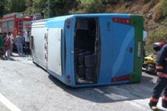 Beykoz'da Halk Otobüsü Devrildi: 10 Yaralı
