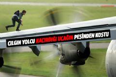 Çılgın Yolcu Kaçırdığı Uçağın Peşinden Koştu