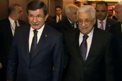 Başbakan Davutoğlu Filistin Devlet Başkanı Mahmud Abbas ile Görüştü