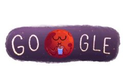 Google Mars'ta Su Bulunmasını Doodle Yaptı