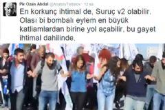 Eylemci Ankara'daki Patlamayı Önceden Bildi
