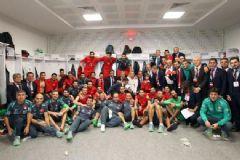 A Milli Futbol Takımımızdan Sevinç Pozu