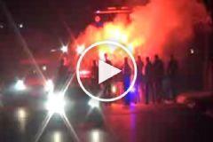 Fenerbahçeli Futbolcular Meşalelerle Karşılandı